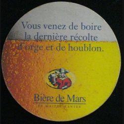 DESSOUS DE VERRE A BIÈRE : BIÈRE DE MARS MAÎTRE KANTER (CARTON)