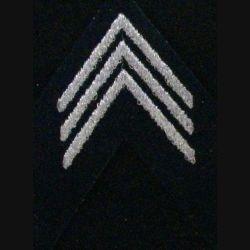 Galon argenté de tissu de calot de Capitaine