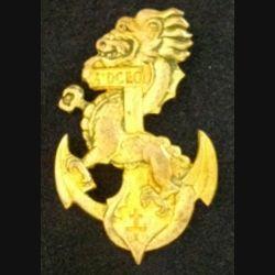 1° DCEO : insigne métallique de la 1° division coloniale d'Extrême de fabrication Drago