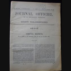 COMITÉS SECRETS DES 4 JUILLET ET 19/12/1916, 6 JUIN ET 19/07/191