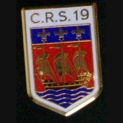 CRS 19 :  insigne de la compagnie républicaine de sécurité n° 19