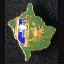 126° RI : insigne métallique de la 4° compagnie du 126° régiment d'infanterie au Kosovo en 2001 de fabrication FG / Parallel