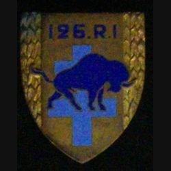 126° RI : 126° RÉGIMENT D'INFANTERIE (BISON BLEU) (ANDOR) ÉMAIL
