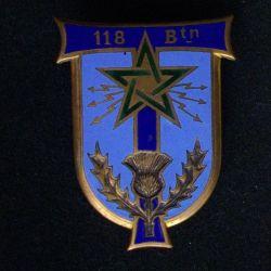 118° BT : 118° BATAILLON DE TRANSMISSIONS ÉMAIL (DOM 662)