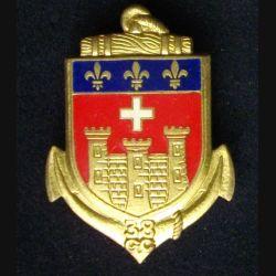 38° CC : insigne métallique de la 38° compagnie de camp à Caylus de fabrication Drago G. 2105