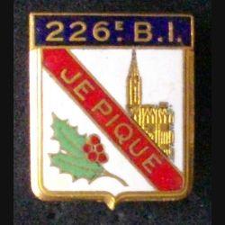 226°BI : 226°BATAILLON D'INFANTERIE (DRAGO) ÉMAIL DOS LISSE