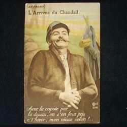 CARTE POSTALE GUERRE 1914-1918  : L'ARRIVÉE DU CHANDAIL N°2041