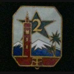 2° RTM : 2° RÉGIMENT DE TIRAILLEURS MAROCAINS ÉMAIL (ABPD) 1939