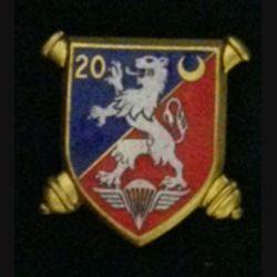 20° RA : insigne métallique du 20° régiment d'artillerie de fabrication Drago G. 1999 en émail