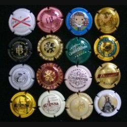 MUSELET : Lot de 16 muselets de bouteilles de champagne et de crémant d'Alsace
