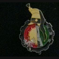 CUIRS : insigne de l'escadron de maintenance régimentaire EMR du 5° régiment de cuirassiers (ou 1° escadron du 11° régiment de cuirassiers) de fabrication GLF