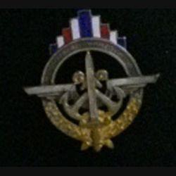 DRS : insigne de la direction du recrutement et de la statistique en émail, argenté et doré, fabriqué par Drago rue Olivier Métra