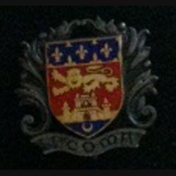4° COMA : insigne de la 4° section des commis ouvriers militaires d'administration de fabrication Drago rue Béranger H. 533 en émail