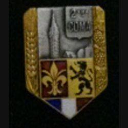 2° COMA : insigne de la 1° section des commis ouvriers militaires d'administration de fabrication Drago en émail