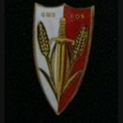 609° GMS : insigne du 609° groupe mixte des subsistances fabrication Drago Béranger H. 734 en émail
