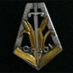 CFSOI : insigne du centre de formation des sous-officiers de l'intendance fabrication Drago G. 1887