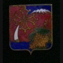 16° CA : insigne du 16° corps d'armée en émail fabriqué par Drago Paris rue Béranger déposé