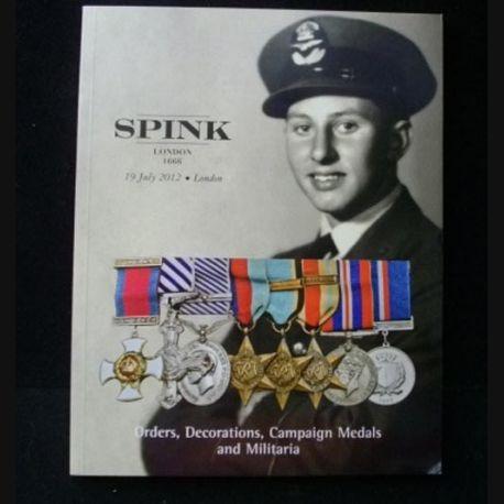 CATALOGUE SPINK  : juillet 2012 médailles militaires britanniques et du monde entier (C65)