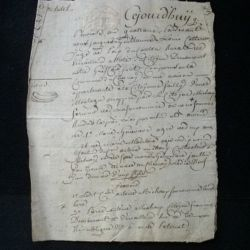 """vieux manuscrit (5) du 15 pluviose an quatrième comprenant un acte de tutelle de 4 pages avec un sceau sec """"expédition"""" de 8 sols"""
