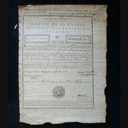 vieux manuscrit (16) du 26 septembre 1793 Action de la caisse d'épargne et de bienfaisance Lafarge de 90 livres N° 96759