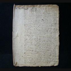 vieux manuscrit (24) du 17 frimaire de l'an septième comprenant 9 pages d'une mission pour arbitrage volontaire du tribunal départemental de Versailles avec 3 sceaux de 75 centimes triangulaires