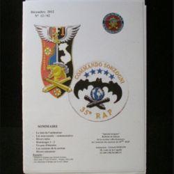 0. CATALOGUE DE L'AMICALE DU 35°RAP DÉCEMBRE 2012 : bulletin de liaison des collectionneurs de l'amicale des anciens du 35°RAP (C92)