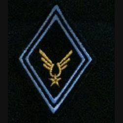 LOSANGE DE BRAS MODÈLE 45 ALAT TRANS CADRE : losange de bras de l'aviation légère de l'armée de terre (ALAT) cadre des transmissions