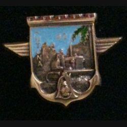 17° RGP CA FUTUNA : insigne de la compagnie d'appui CA du 17° régiment du génie parachutiste à Futuna en 1992 en bronze massif boléro allongé