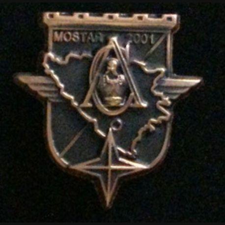 17° RGP : Compagnie d'appui CA du 17° régiment du génie parachutiste Mostar 2001 tout en bronze