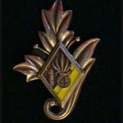 4° REI : Commissariat du 4° régiment étranger d'infanterie couleur jaune en bronze massif tirage dissolution