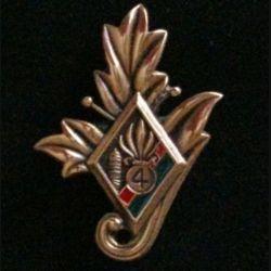 4° REI : Commissariat du 4° régiment étranger d'infanterie couleur rouge et verte en bronze massif tirage dissolution