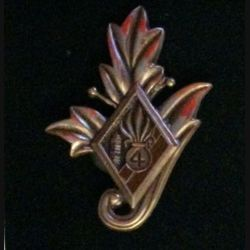 4° REI : Commissariat du 4° régiment étranger d'infanterie couleur marron en bronze massif tirage dissolution