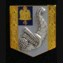 4° GLCAT : insigne du 4° groupe logistique du commissariat de l'armée de terre fabrication Arthus Bertrand G. 4939