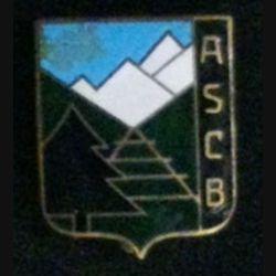 ASCB : vieil insigne émaillé de fabrication Augis Lyon inconnu sur lequel est inscrit ASCB