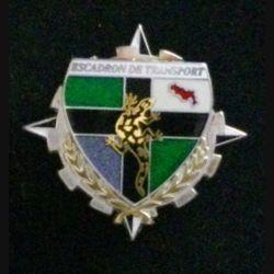 EC IFOR : insigne de l'escadron de transport de la division salamandre IFOR fabrication Boussemart modèle translucide argenté