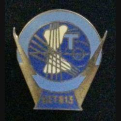 813° GET : insigne du 813° groupe d'exploitation des transmissions de fabrication Drago G.1800 deux anneaux