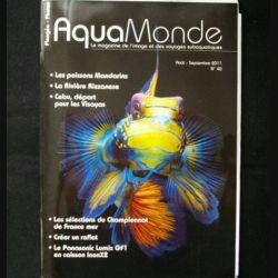 AQUAMONDE N° 40 août septembre 2011 : superbe magazine d'Aquamonde n°40 sur l'image et les voyages subaquatiques (C65)