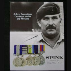 CATALOGUE SPINK  :  avril 2012 médailles militaires britanniques et du monde entier (C65)
