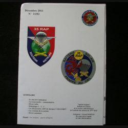 0. CATALOGUE DE L'AMICALE DU 35°RAP décembre 2011 N°11/2 : bulletin de liaison des collectionneurs de l'amicale des anciens du 35°RAP (C92)