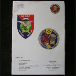 0. CATALOGUE DE L'AMICALE DU 35°RAP juin 2011 N°11/1 : bulletin de liaison des collectionneurs de l'amicale des anciens du 35°RAP (C92)