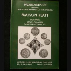 0. CATALOGUE PLATT : catalogue à prix marqués de mai 1995 de monnaies, de jetons, d'Ordres et de décorations du monde entier