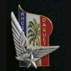 1° RHC : insigne du 1° régiment d'hélicoptères de combat opération Daguet de fabrication Balme