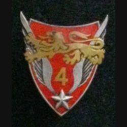 4° GALAT : insigne du 4° groupe de l'aviation légère de l'armée de terre de fabrication Drago G. 2073 en émail