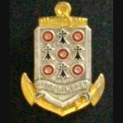 CDT DE PIMODAN : Aviso Dragueur Commandant de Pimodan en émail