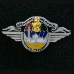 17° RGP 1° CIE KOWEIT : insigne de la 1° compagnie du 17° régiment du génie parachutiste opération Merrain au Koweit de fabrication Balme