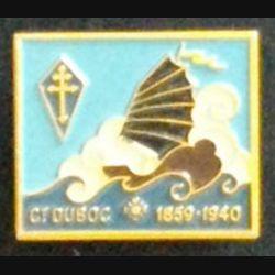 CT DUBOC : insigne de l'aviso dragueur Commandant Duboc Augis peint