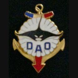 1° RPIMA DAO MANTA : insigne du détachement d'assistance opérationnelle opération Manta Tchad du 1° régiment parachutiste d'infanterie de marine de fabrication Fraisse