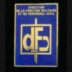 DFP : insigne de la direction de la fonction militaire et du personnel civil de fabrication Balme G. 4466 numéroté 029