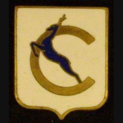 CHEVREUIL : insigne de l'aviso dragueur Chevreuil de fabrication Augis en émail