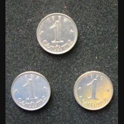 FRANCE : 3 pièces de 1 centimes 2 de 1964 et 1 de 1970
